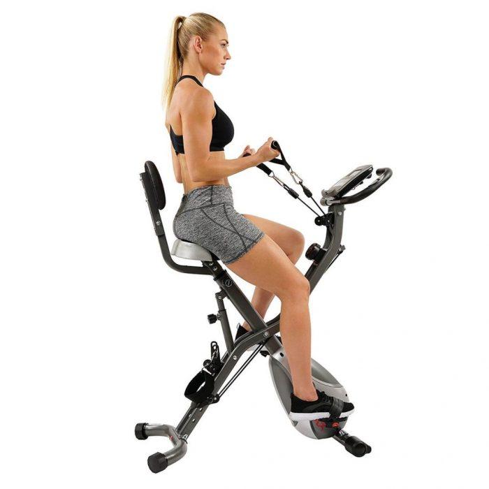 Sunny Health & Fitness SF-B2710 Foldable Semi-Recumbent Exercise Bike