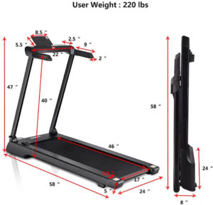 Gymax compact treadmill for home