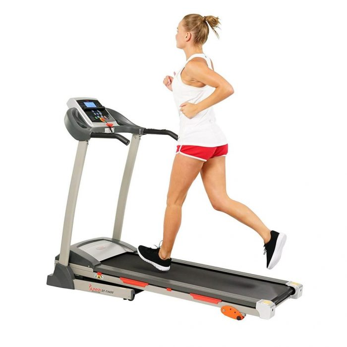 Sunny Health & Fitness compact Treadmill for an Apartment